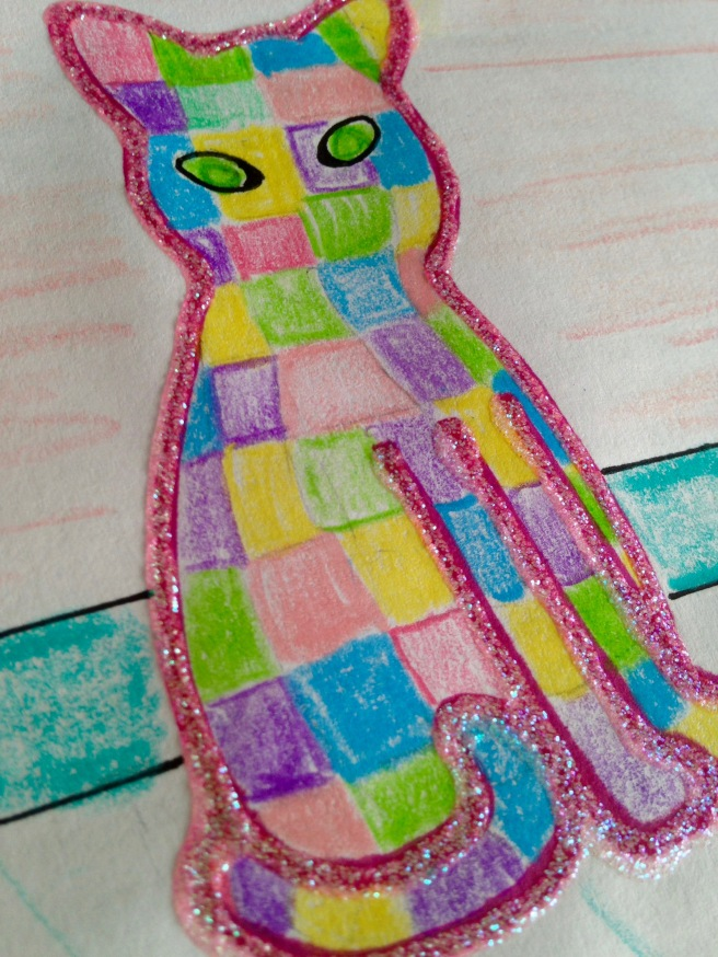 Pastel Patchwork Cat
